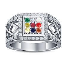 online rings silver images Buy white platinum plated sterling silver 9 stone elegant design jpg