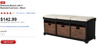 storage bench cushion treenovation intended for with baskets and