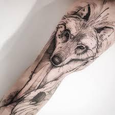 black u0026 gray wolf tattoo inkstylemag