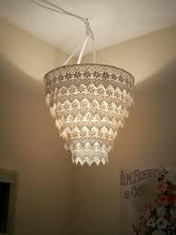 chandelier lights online venise lace faux chandelier pendant lamp shade u0027ivory u0027 30 00