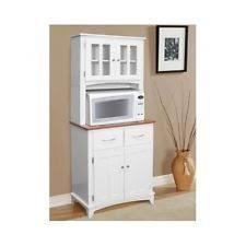 Cottage China Cabinets EBay - White kitchen hutch cabinet