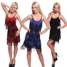 20s vintage slip dress fringe flapper gatsby evening dress