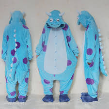 sulley halloween costume monsters university mike wazowski sulley onesies pajamas kigurumi