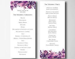 purple wedding programs wedding programs wedding programs wedding ceremony