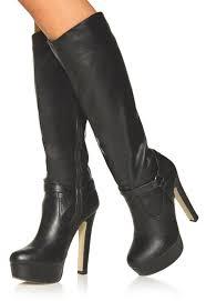 justfab s boots sarika in black get great deals at justfab
