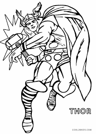 Free Online Thor Coloring Page 95 For Your Free Coloring Pages For Thor Coloring Page