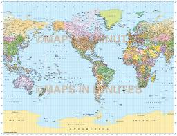 World Political Map by Vector World Map Gall Projection Political Map Us Centric 10m