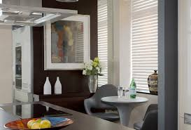 bedroom interesting dark blinds chalet with futuristic table and