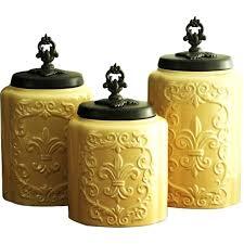 decorative canister sets kitchen decorative canister sets 3 canister set earthenware artistic