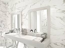 bathroom ceramic wall tile marble look calacata silver 3rd ave