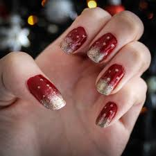nails christmas gradient gold on red jaz u0027s journal