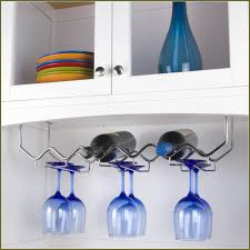 Wine Glass Holder Under Cabinet Diy Wine Glass Rack Under Cabinet Home Design Ideas
