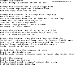 frosty the snowman by george strait lyrics
