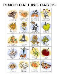 thanksgiving bingo calling card makingfriendsmakingfriends