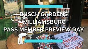 Busch Gardens Family Pass Busch Gardens Williamsburg Pass Member Preview Day 2017 Youtube
