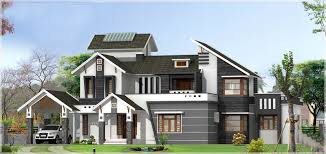 sloping roof kerala house design at 3136 sq ft with pergolas