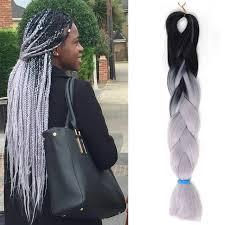 grey marley braiding hair 1pcs cheap 100g grey ombre kanekalon braiding hair two tone purple