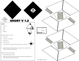 paper craft ghost for those that missed out on the ghost edition