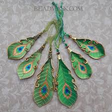 leather peacock feather ornaments beadmask