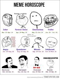 Meme Face Names - choose your horoscope the meta picture