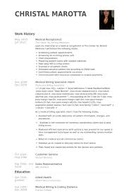 Medical Billing Job Description For Resume by Réceptionniste Médicale Exemple De Cv Base De Données Des Cv De