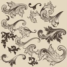 floral swirl ornament design vector 04 free millions