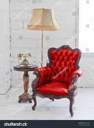 Red Leather Chair Red Leather Chair Stock Photo 90718624 Shutterstock