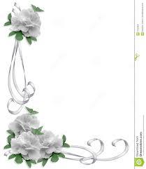 wedding invitation border white roses royalty free stock images