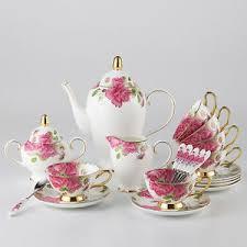 tea cup set chaoson set luxury bone china coffee cup set porcelain tea