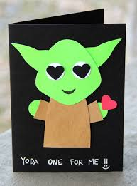 yoda valentines card valentines day gifts yoda one for me s day card by
