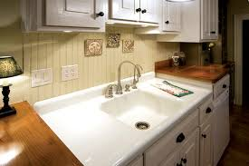 Double Farmhouse Sink With Drainboa  Befon - Farmhouse kitchen sinks with drainboard
