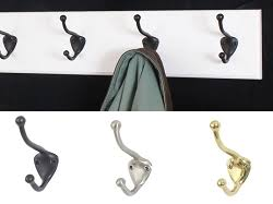 white coat racks with solid brass aged bronze or satin nickel