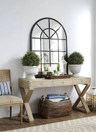 White Hallway Console Table Front Hall Table And Mirror Rustic Chic Console Table Entrance