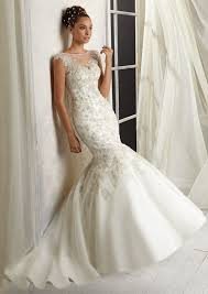 beaded wedding dress with a illusion neckline style 1288 morilee