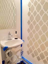 powder room decorating ideas for your bathroom camer design stencils boast big style in a powder room stencil stories stencil