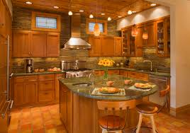 awesome stacked stone backsplash tile sheets with modern kitchen