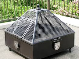 Metal Firepit Firepit Lid Square Furniture Decor Trend You Need Fireplace