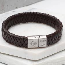 hand bracelet men images Hand in hand personalised men 39 s leather bracelet by hurleyburley jpg