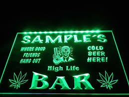 aliexpress com buy dz082 name personalized custom weed hemp high aliexpress com buy dz082 name personalized custom weed hemp high life bar beer neon sign hang sign home decor shop crafts from reliable home decor