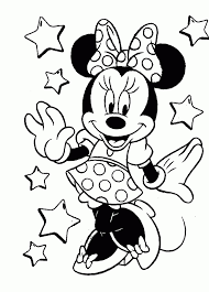 coloring dazzling minie mouse drawing hqdefault coloring