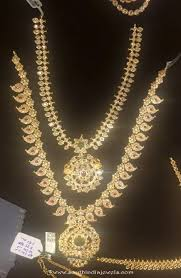 bridal jewelry necklace set images Gold bridal jewellery necklace sets south india jewels gold jpg