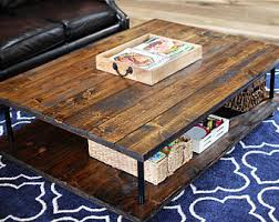 Furniture Rustic Modern by Wood Coffee Table Etsy