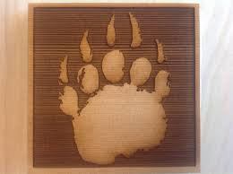 corner trim blocks bear print made from cedar