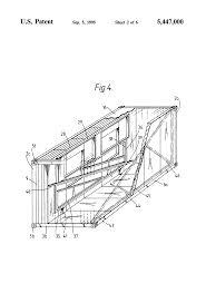 patent us5447000 prefabricated building kit google patents drawing