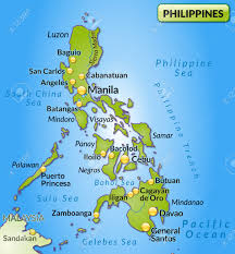 Luzon Map Map Of Philippines As An Overview Map In Green Royalty Free