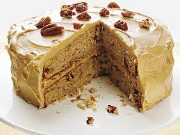 maple frosting pecan spice cake with maple frosting recipe myrecipes