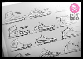 q designs conceptkicks thumbnail sketching
