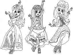 coloring pages for girls monster high fablesfromthefriends com