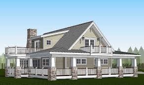 plan 18286be country home with wraparound porch and 2 balconies