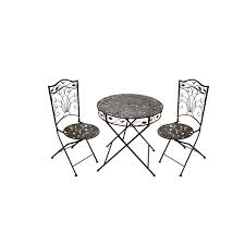 Folding Bistro Table And 2 Chairs Furniture Folding Metal Bistro Table And Chairs 3 Patio High